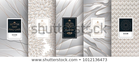 Decorative golden label in luxury style - vector design Stock photo © blue-pen