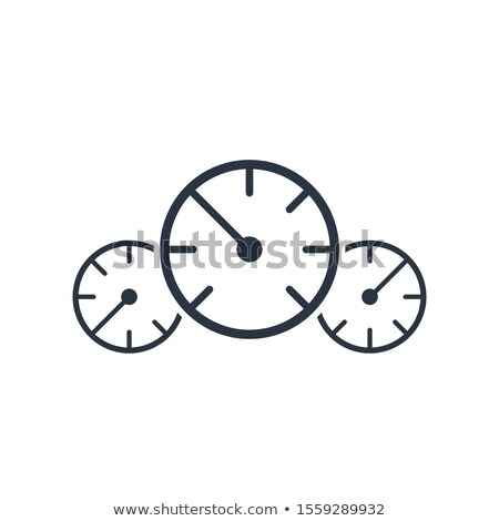 Velocímetro pressão ícone Foto stock © kyryloff