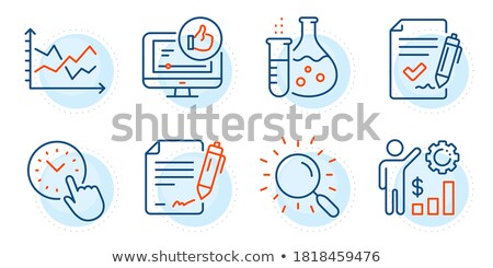 Wealth Management Infocharts and Analytics Vector Stock photo © robuart