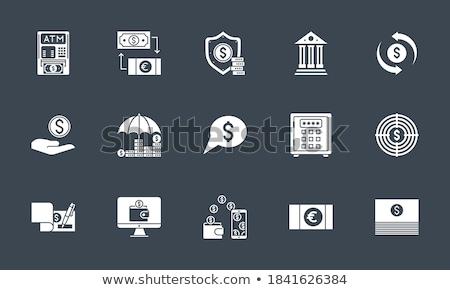 Bank Check related vector glyph icon Stock photo © smoki