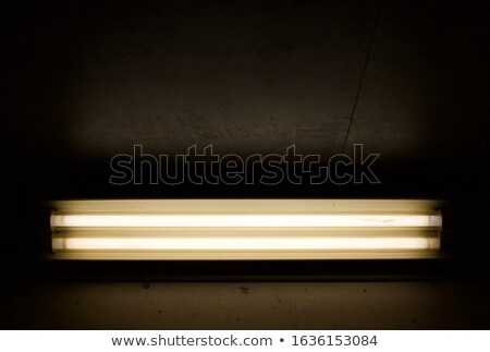 蛍光灯 ランプ 黒 コピースペース 3次元の図 背景 ストックフォト © make