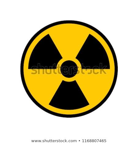 Teken 3D bestraling witte veiligheid nucleaire Stockfoto © rzymu