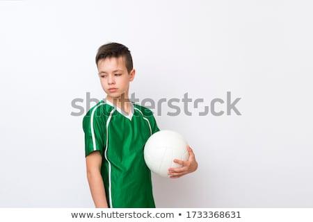 バレーボール 選手 ボール スタジオ 手 男 ストックフォト © Lopolo