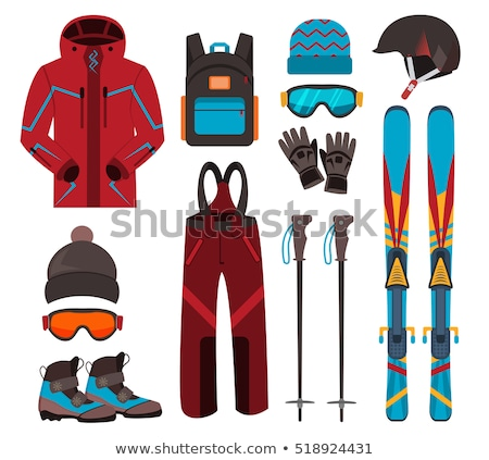 Ski Equipment Pole and Stick, Winter Sports Icon Stock photo © robuart