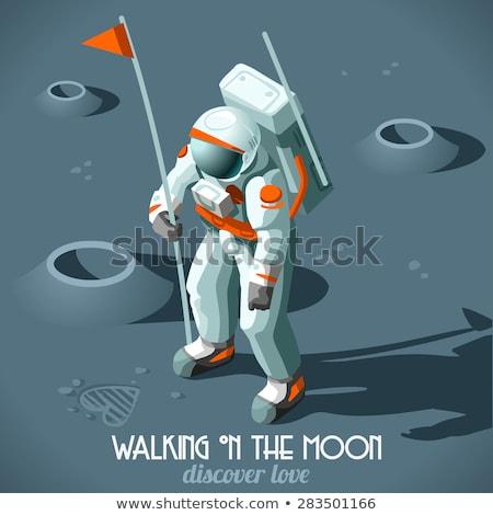 Vector isometrische maan missie twee lopen Stockfoto © tele52