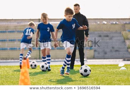 Genç erkek spor futbol kulüp eğitim Stok fotoğraf © matimix