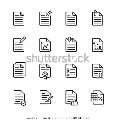 Firma papel icono vector ilustración Foto stock © pikepicture