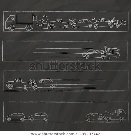 Carro acidente acidente elementos vetor Foto stock © pikepicture