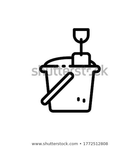 Fire Bucket With Sand Icon Outline Illustration Stock photo © pikepicture