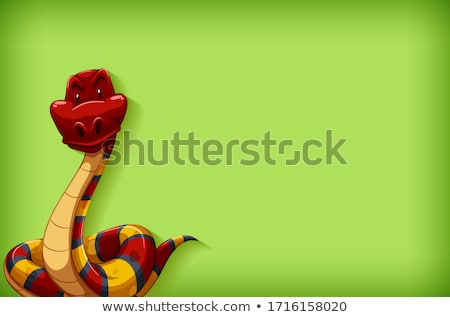 Background template with plain color and red snake Stock photo © bluering