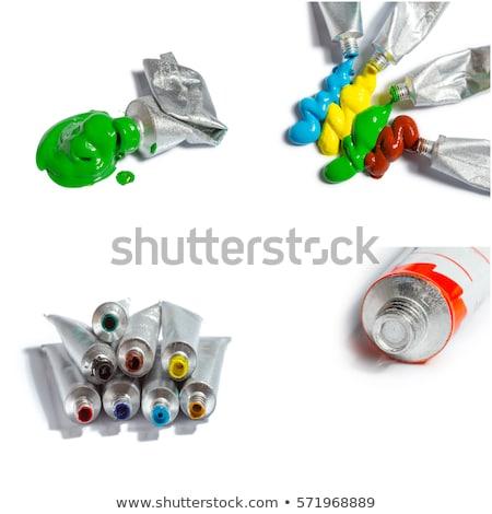 Artístico cor tubo néon papel Foto stock © yupiramos