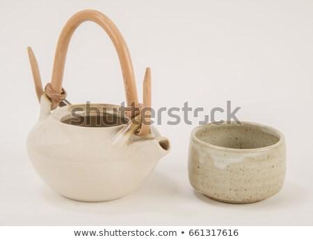 White crockery for tea Stock photo © Melnyk