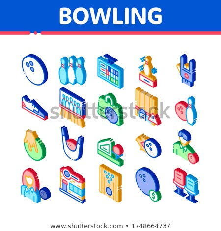 Bowling gioco strumenti isometrica vettore Foto d'archivio © pikepicture
