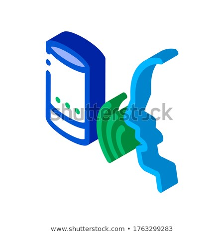 Sound Column Voice Control isometric icon vector illustration Stock photo © pikepicture