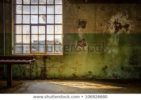 Eski duvar pencere yukarı ev cam Stok fotoğraf © stokato