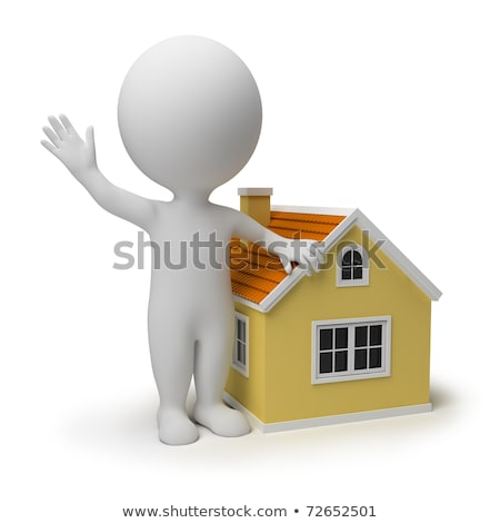 3d small people   window stock photo © anatolym