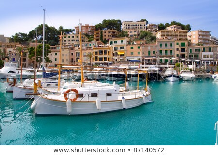puerto de soller port of mallorca with lllaut boats stock photo © lunamarina