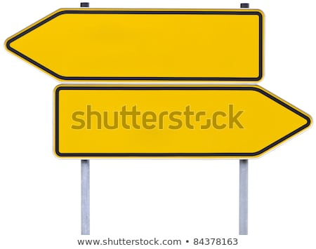 german direction signs with clipping path Stock photo © gewoldi