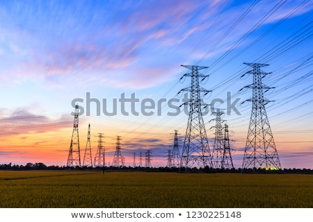 行 実例 高電圧 空 建設 ストックフォト © pkdinkar