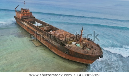 abandoned ship stock photo © asturianu