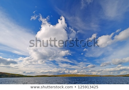 Blue skies and Clouds in the North Woods Stock photo © wildnerdpix