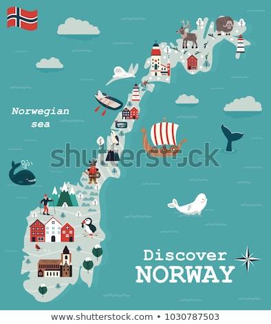 Norway travel map stock photo © speedfighter