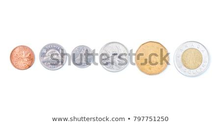 монетами · доллара · монеты · белый · деньги · фон - Сток-фото © mybaitshop