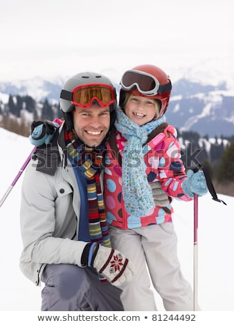 father and daughter in ski holidays stock photo © photography33
