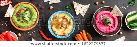 Taze ev yapımı pide ekmek dekoratif masa örtüsü Stok fotoğraf © fotogal