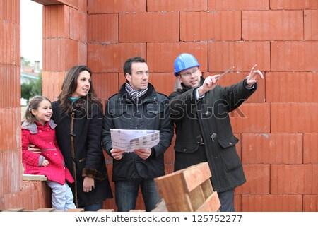 семьи вокруг строительная площадка дома строительство домой Сток-фото © photography33