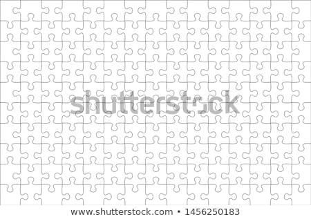 cor · quebra-cabeça · elementos · grupo · projeto · equipe - foto stock © beaubelle