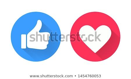 Stockfoto: Hart · symbool · social · media · abstract · computer · internet