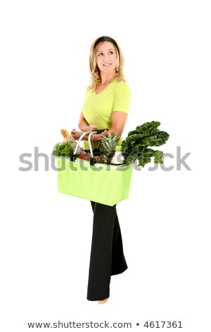 Eco aware shopper looking sideways Stock photo © lovleah