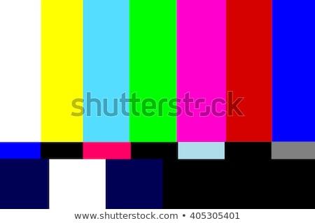 Televisie gekleurd bars signaal test tv Stockfoto © caimacanul