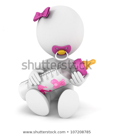 3d small people   child and the pacifier stock photo © anatolym