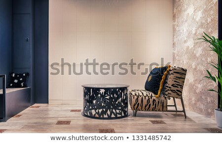 Contemporary seating combination in black Stock photo © 3523studio