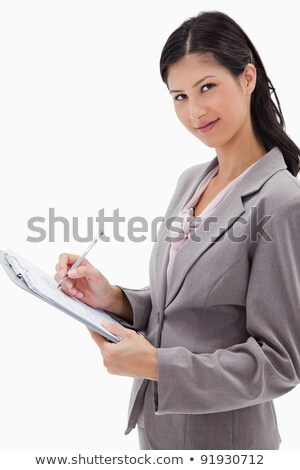 Surveyor writing on a clipboard Stock photo © photography33