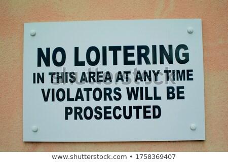No food or loitering sign Stock photo © jadthree