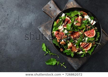 vegetable salad and fig stock photo © m-studio