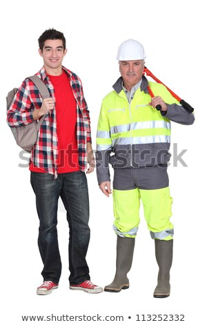 A mature construction worker and his grandson. Stock photo © photography33