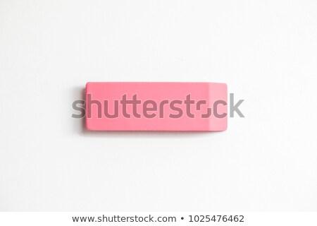 резиновые Eraser белый пути объект Сток-фото © ozaiachin