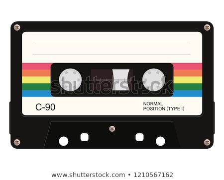 Cassette bande isolé blanche musique technologie Photo stock © HectorSnchz