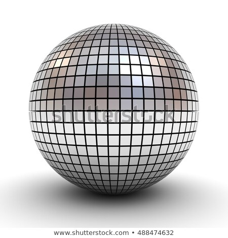 Silver disco ball over white Stock photo © stryjek