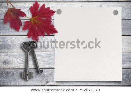 propre · note · bois · clé · affaires · bureau - photo stock © inxti