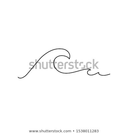 grande · azul · surfe · onda · oceano · natureza - foto stock © tannjuska
