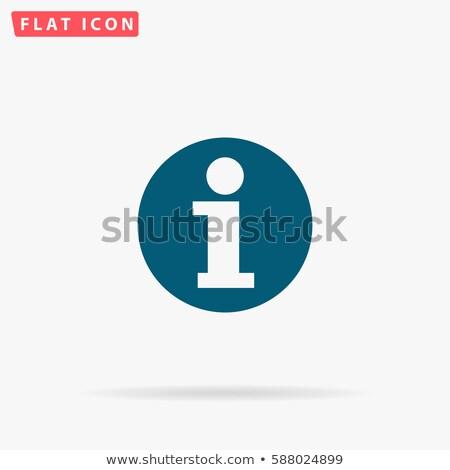 Blauw glanzend info icon geïsoleerd witte Stockfoto © tuulijumala