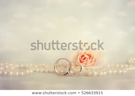 Golden Wedding Ring with pearl Stock photo © ozaiachin