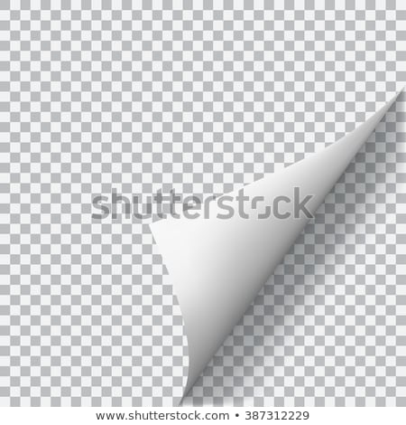 Curled Paper Corner Stock photo © UPimages