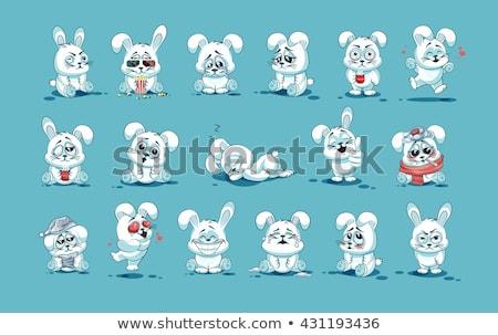 konijn · tekening · kunst · gelukkig · cartoon - stockfoto © indiwarm