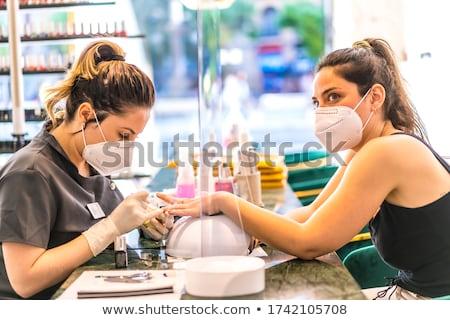 jelentkezik · szög · olaj · kéz · közelkép · fürdő - stock fotó © juniart